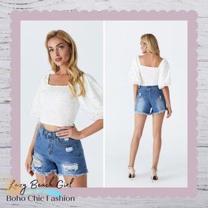 Medium Distressed Denim Shorts